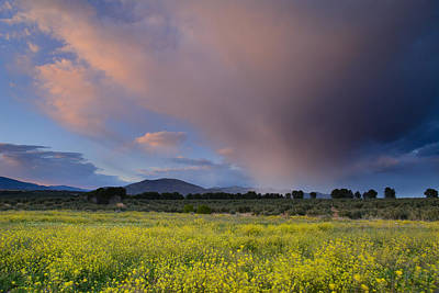 Storm At Sunset Print by Guido Montanes Castillo