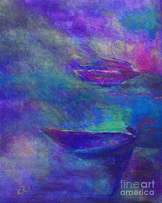 Storm Boats Print by Claire Bull