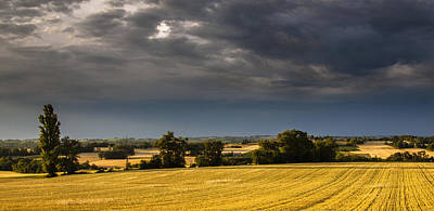 Storm Brewing Over Corn Print by Matthew Bruce