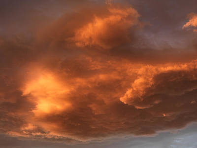 Storm Cloud Color And Textures Print by Leland D Howard