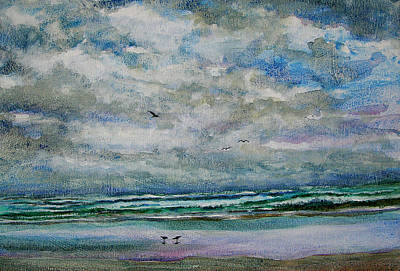 Painting - Storm Clouds Clearing by Julianne Felton