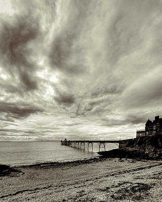 Storm Clouds Over Clevedon Pier Print by Rachel Down