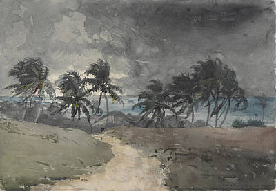 Landscape Painting - Storm In Bahamas by Celestial Images
