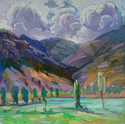 Storm In The Mountains Print by Gregg Caudell