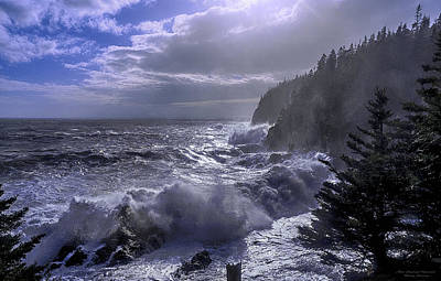 Quoddy Photograph - Storm Lifting At Gulliver's Hole by Marty Saccone