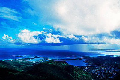Storm Off Of Sint Maarten, Netherlands Print by Panoramic Images