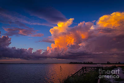Storm On Tampa Print by Marvin Spates