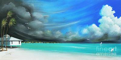 Bird Painting - Storm On The Move by Susi Galloway