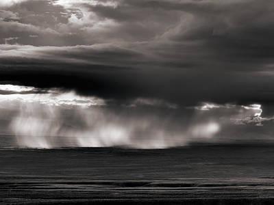 Storm Over Bighorn Basin Print by Leland D Howard