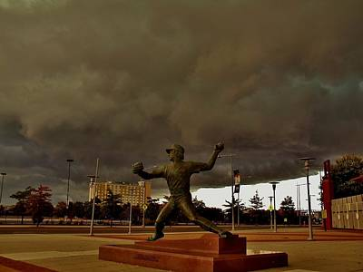 Citizens Bank Park Photograph - Storm Over Lefty by Ed Sweeney
