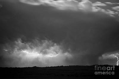 Storm Over Pine Ridge Print by Chris  Brewington Photography LLC