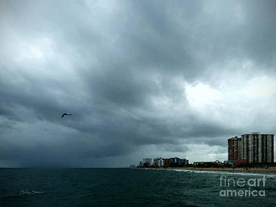 Storm Over Pompano Print by Sally Simon