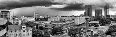 Storm Over San Antonio Texas Skyline Print by Silvio Ligutti