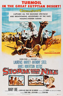 1955 Movies Photograph - Storm Over The Nile, Us Poster Art, 1955 by Everett