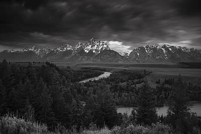 Landscape Photograph - Storm Over The Tetons by Andrew Soundarajan