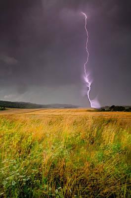 Cloudscape Digital Art - Storm Over The Wheat Fields by Eti Reid