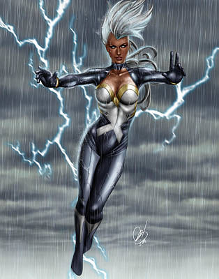 X Men Painting - Storm by Pete Tapang