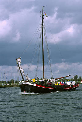 Flevoland Photograph - Storm Sailing by Roderick Bley