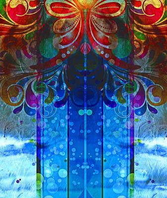 Winter Storm Mixed Media - Storm Through The Window - Abstract  by Georgiana Romanovna