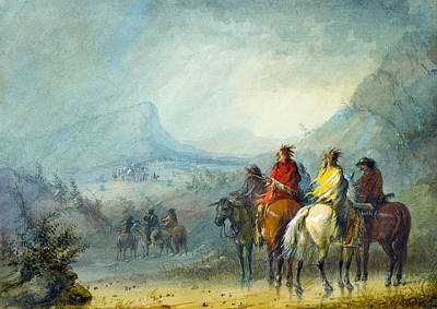 Storm Waiting For The Caravan Print by Alfred Jacob Miller