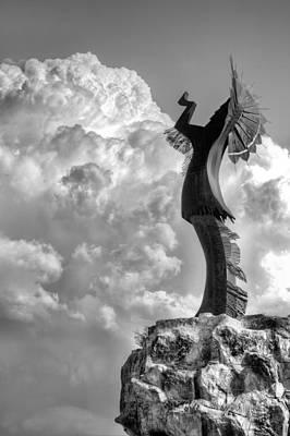 Storm Watcher Bw Print by JC Findley