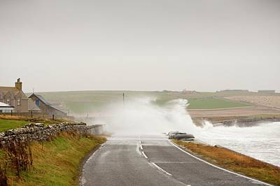Extreme Weather Photograph - Storm Waves On by Ashley Cooper