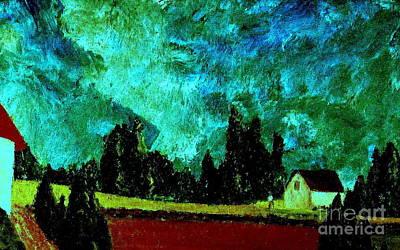 Italy Farmhouse Painting - Stormlight by Bill OConnor