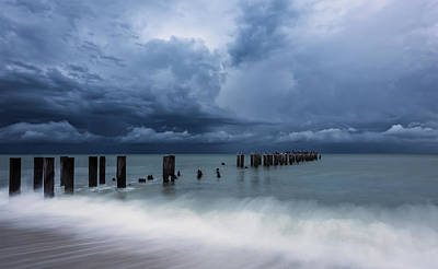 Pilings Photograph - Storm's A Comin' by Mike Lang