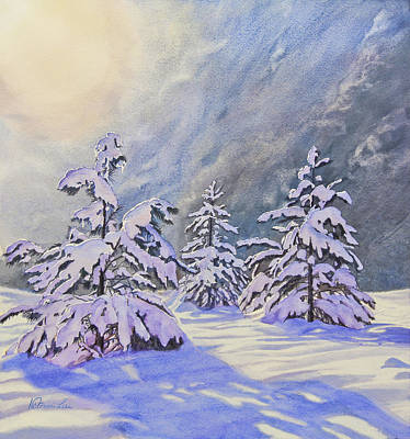 Snowscape Painting - Storm's End by Victoria Lisi