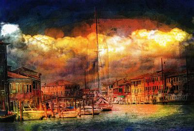 Boating Mixed Media - Storms In Venice by Georgiana Romanovna