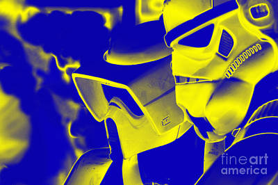 Science Fiction Photograph - Stormtrooper And Biker Scout by Micah May