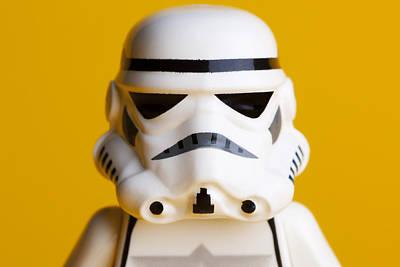 Stormtrooper Portrait Print by Samuel Whitton