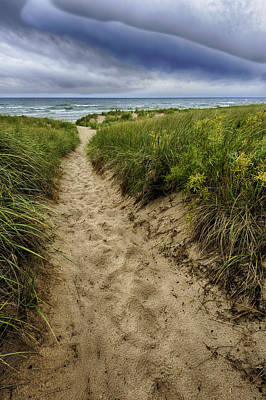 Path Photograph - Stormy Beach by Sebastian Musial