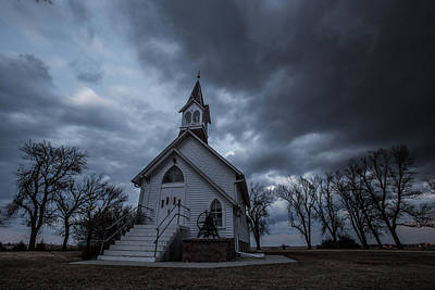 Slash Photograph - Stormy Church by Aaron J Groen
