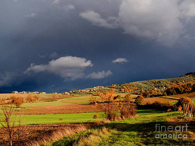Grey Clouds Photograph - Stormy Countryside by Tim Holt