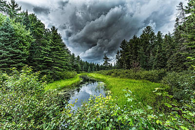 Northwoods Photograph - Stormy Creek by Jeffrey Ewig