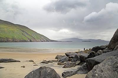 Stormy Peace Keem Beach Ireland Print by Betsy C Knapp