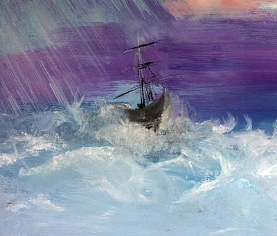 Stormy Seas Print by Lisa Kaiser