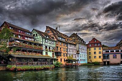 Stormy Skies In Strasbourg Print by Carol Japp