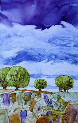 Stormy Skies Original by Nancy Jolley
