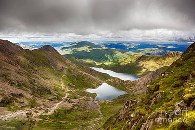 Snowdonia Photograph - Stormy Skies Over Snowdonia by Jane Rix