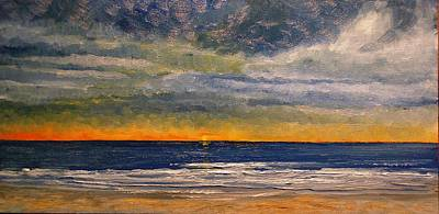 Painting - Stormy Sky Sunrise by Keith Wilkie