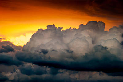 Stormy Sunset Print by Optical Playground By MP Ray