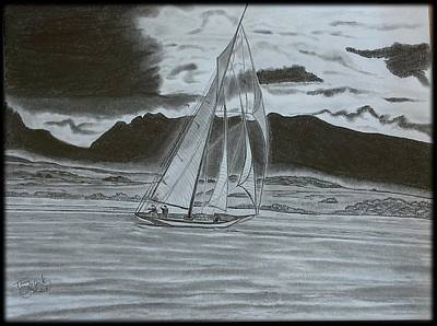 Storm Drawing - Stormy Weather by Tony Clark