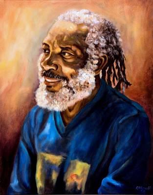 Jamaican Art Painting - Story Teller by Ewan  McAnuff