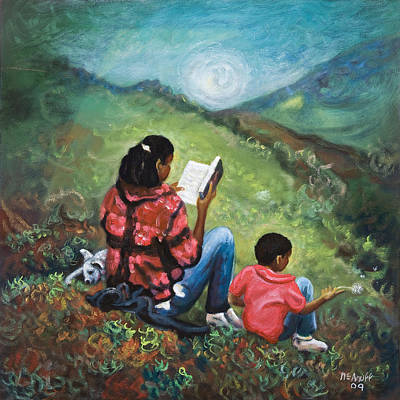 Jamaican Art Painting - Story Time by Ewan  McAnuff