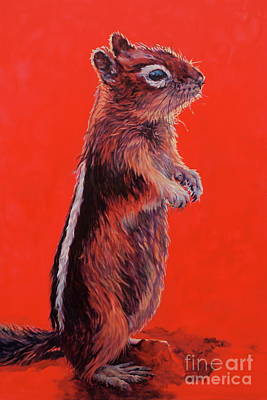 Squirrel Painting - Storyteller by Patricia A Griffin