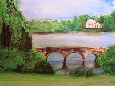 Rick Todaro Painting - Stourhead Gardens  by Rick Todaro