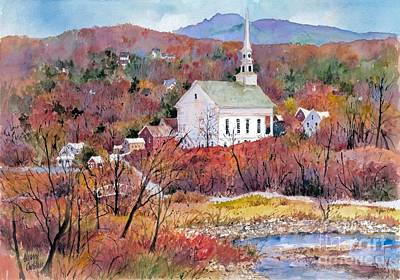 Stowe Village Print by Sherri Crabtree