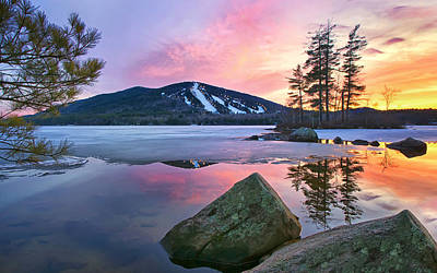 Maine Mountains Photograph - St.patty's Day Sunset by Darylann Leonard Photography